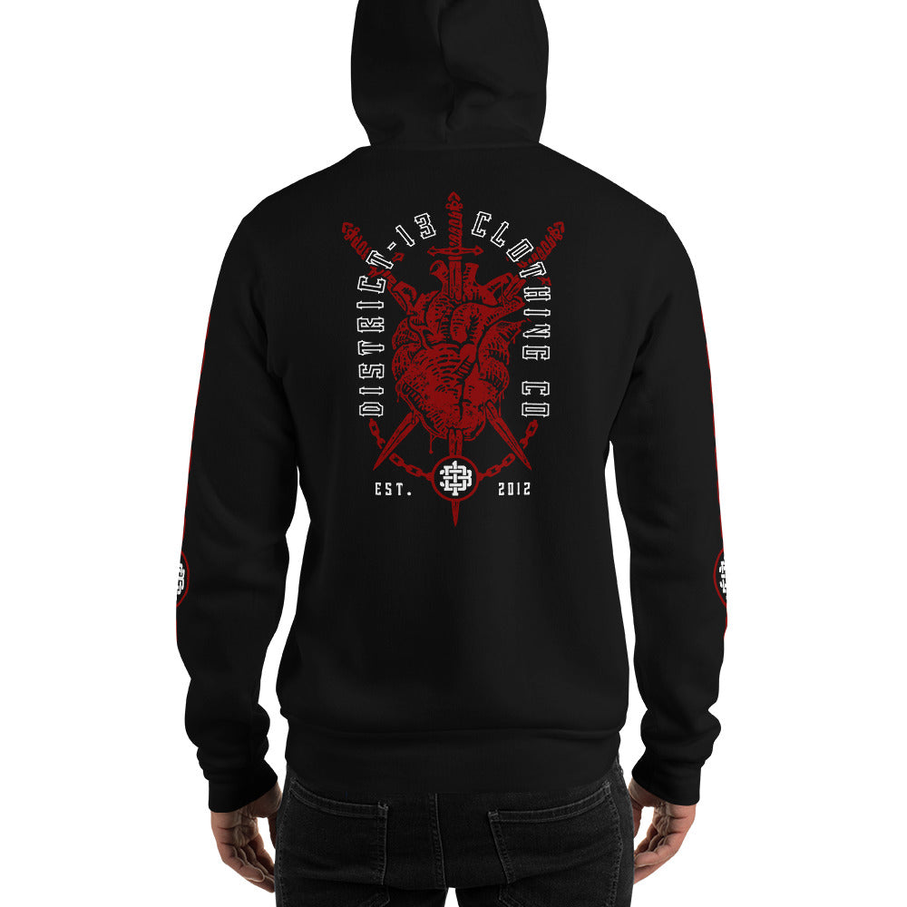 Hoodie - Pullover: D13 - Scarred