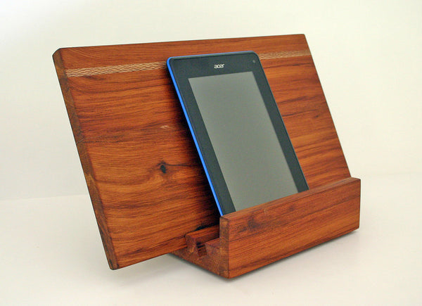 Kitchen Ipad/ tablet cookbook stand with removable serving board