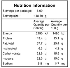 Nutritional information for Date Cake