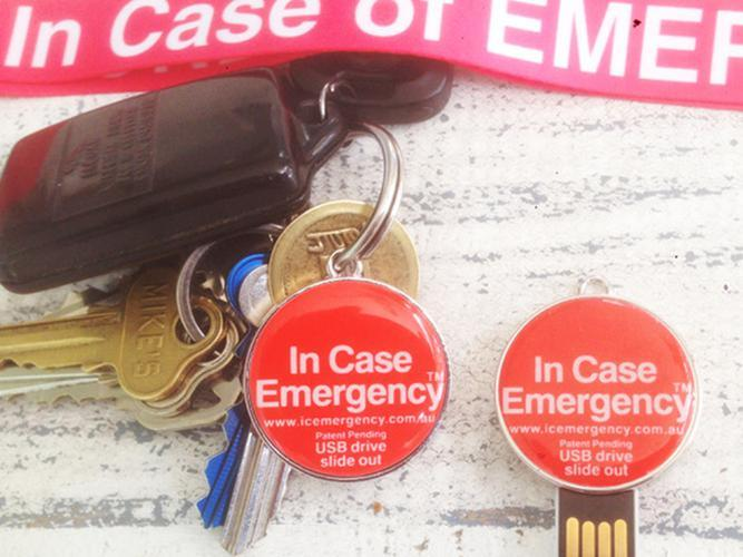 In Case Of Emergency ID Keyring