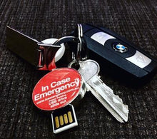 Load image into Gallery viewer, In Case Of Emergency ID Keyring