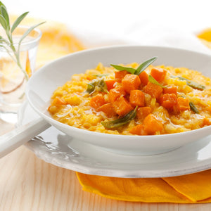 Pumpkin, Spinach And Feta Risotto