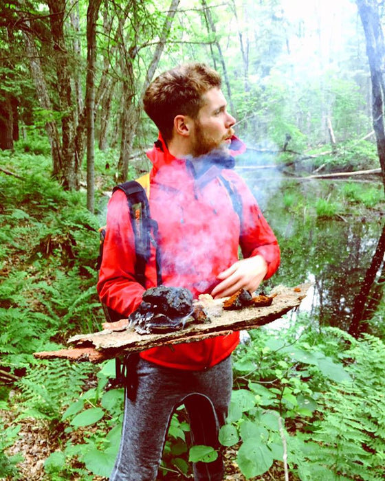 Wild Chaga Harvesting Adventures | Mosquito's, Resilience & Mushroom Burning Stoves