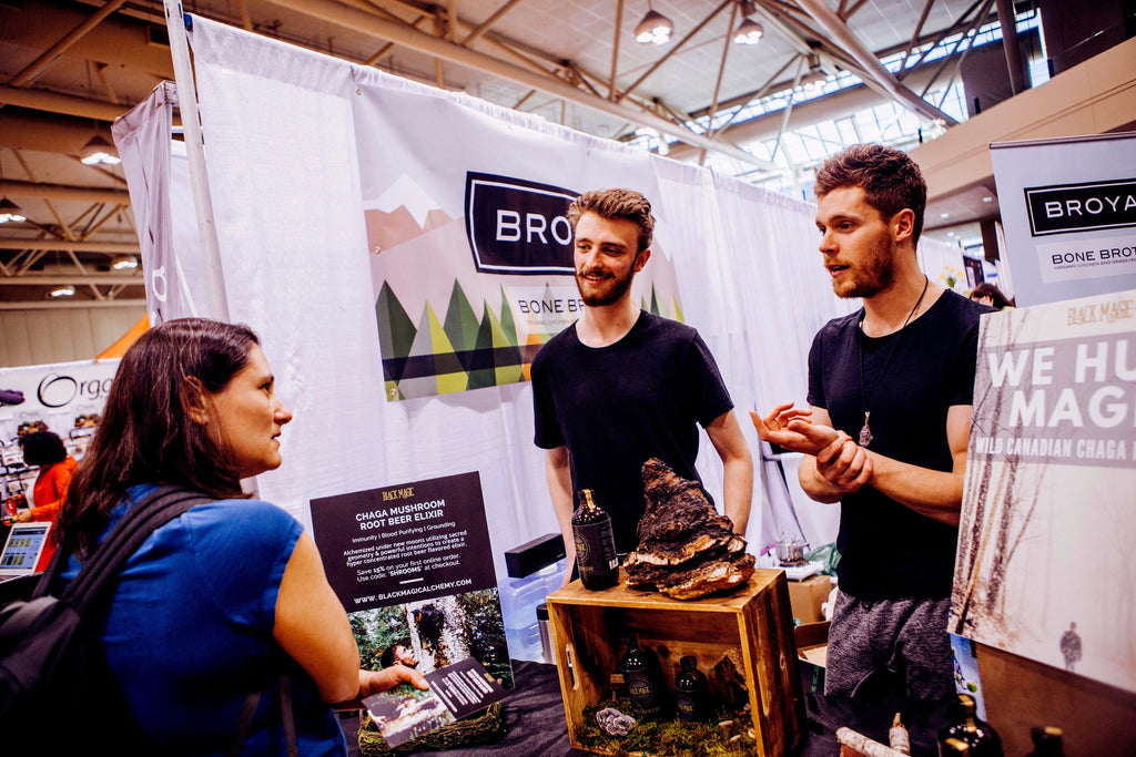 Shane Tyler Milson and Michael Walsh talking about Black Magic Alchemy at the Toronto Yoga Show