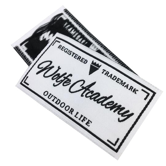 600 Custom artwork personalized clothing woven label