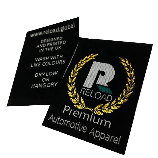 600 Metallic custom artwork personalized clothing woven label