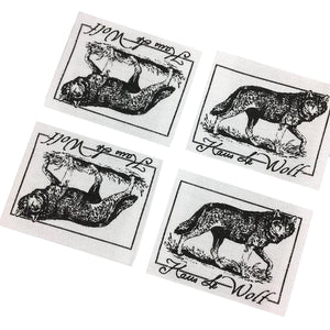 100 Custom artwork printed cotton label - plus