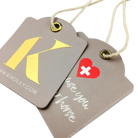 100 Custom printed paper hang tags