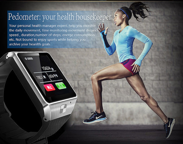 Wonlex GV8S Bluetooth Smart Watch with Camera Phone Watch