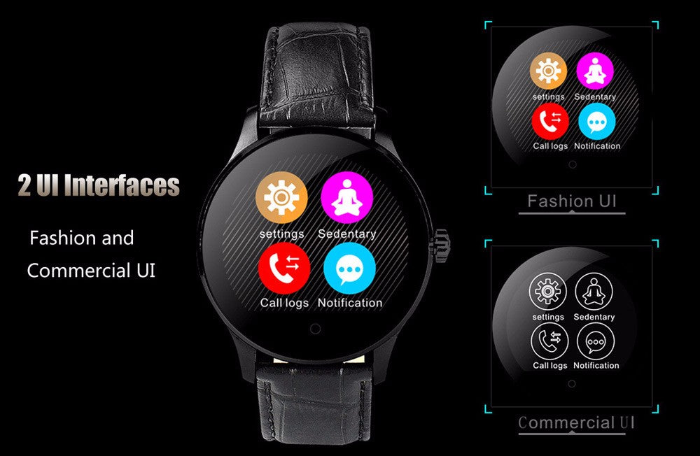 Wonlex K88H MTK2502  Heart Rate Waterproof Bluetooth Smartwatch