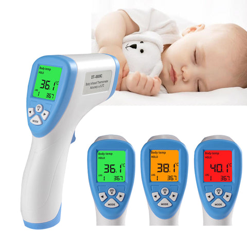 Wonlex Infrared Digital Temperature Tester Non-Contact Medical Forehead Thermometer Mute Mode LCD Screen Display IR Sensor Multi-Functional for Baby Kids Children Adults