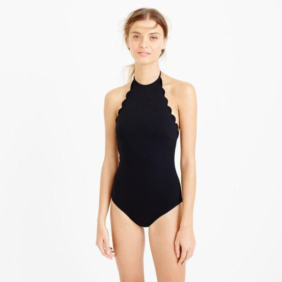 KIKI halter swimsuit, black