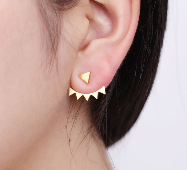 GEOMETRIC wrap earrings, gold