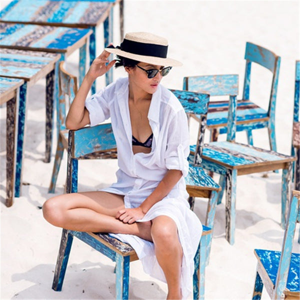 St Tropez Beach Cover up, White