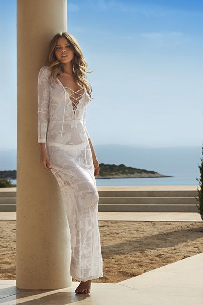 Cali beach cover up, White