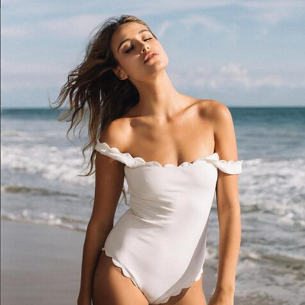 LUNA , swimsuit white