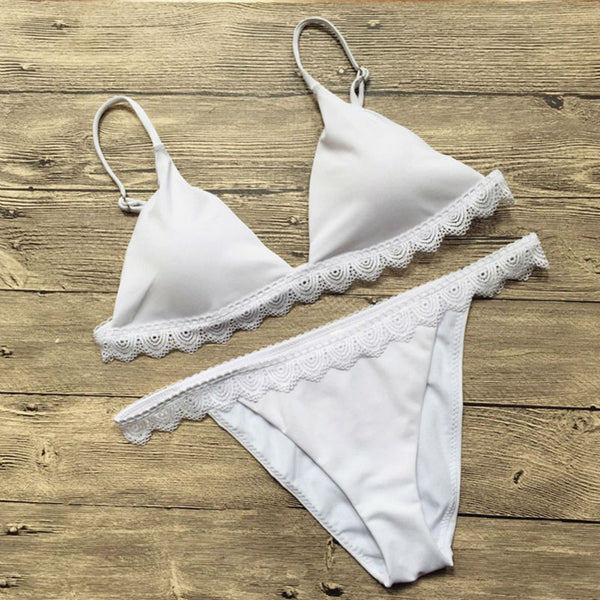MONTAUK lace swimsuit, white