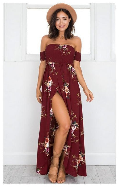 NORA maxi dress, wine red