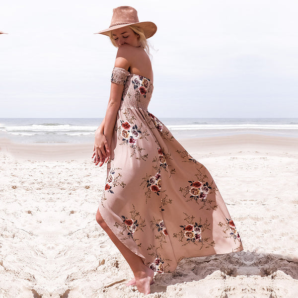 NORA maxi dress, blush