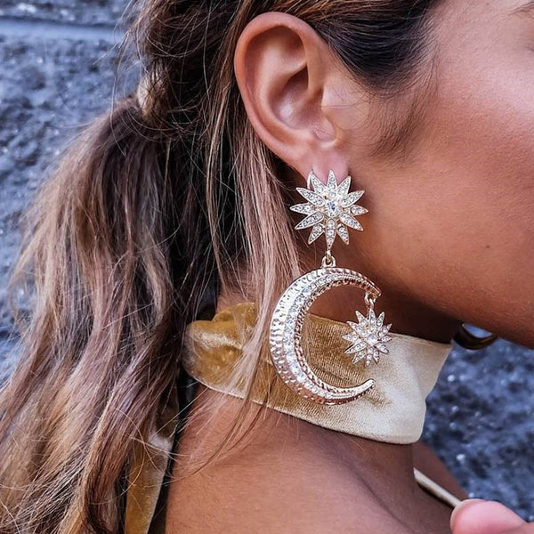 FULL MOON earrings, gold