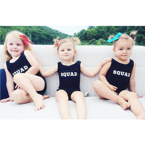 SQUAD swimsuit, black
