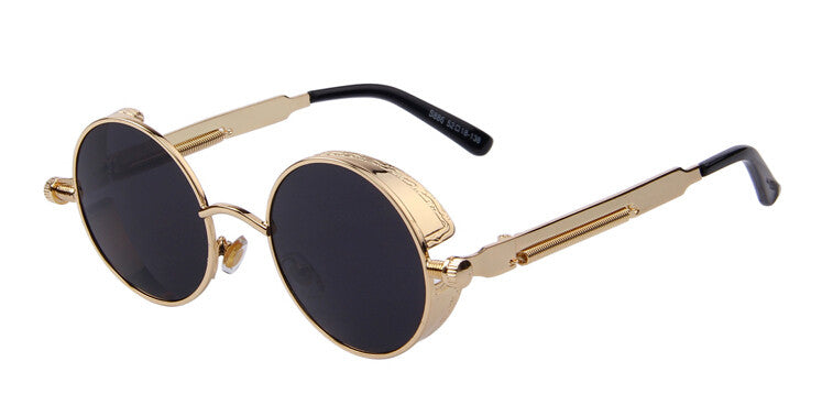 PILOT sunglasses, black/gold