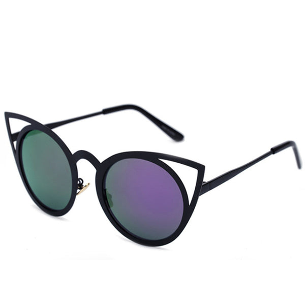 VENUS mirror sunglasses, black/ purple