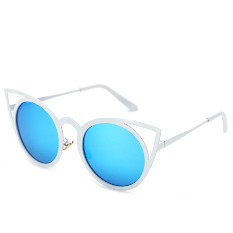 VENUS mirror sunglasses, white/blue