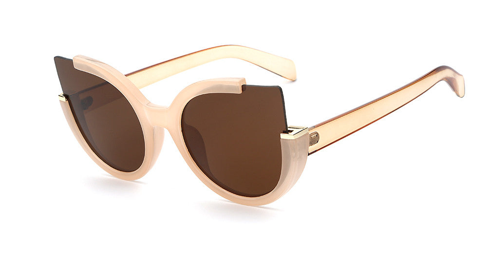 KITTY cat eye sunglasses, nude