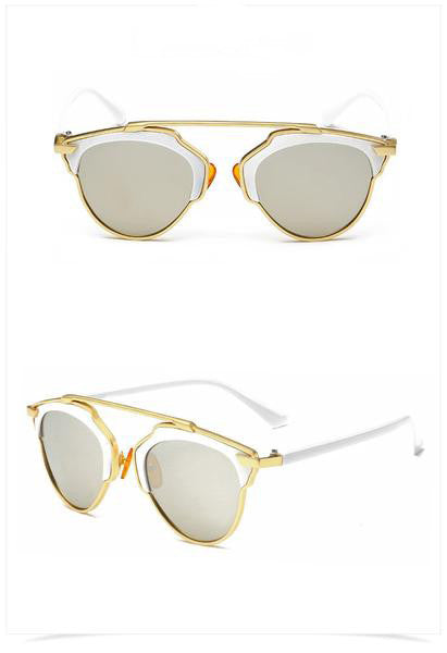 BONE sunglasses, gold/ white