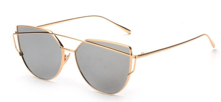 APEX mirrored sunglasses, chrome/ gold