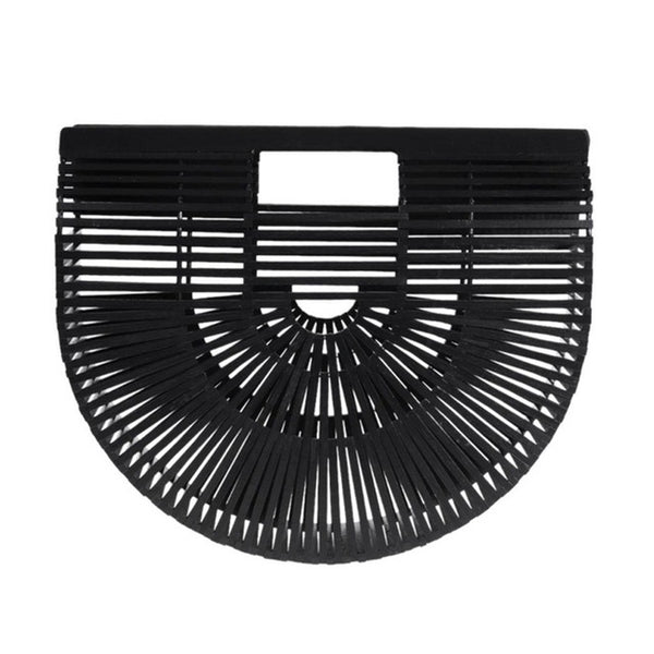 HALF MOON clutch, black