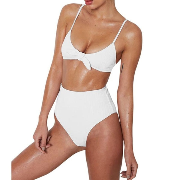 BONNIE, HIGH WAIST BIKINI, WHITE