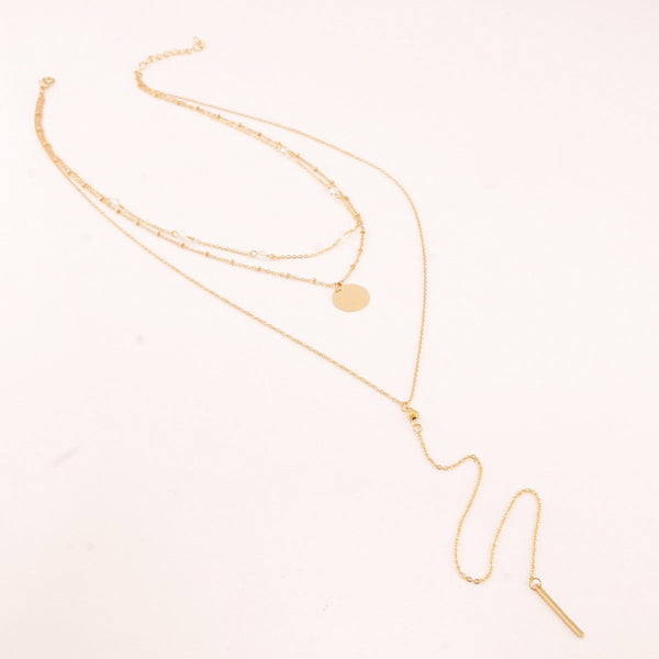 DAKOTA Multi Layer chain necklace, gold