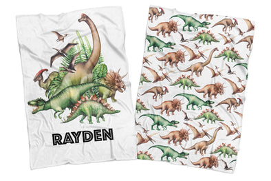 JURASSIC KINGDOM REVERSIBLE BLANKET
