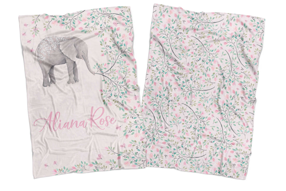 PIPPA THE ELEPHANT REVERSIBLE BLANKET
