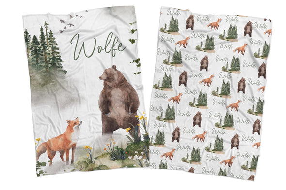 IN THE WILD REVERSIBLE BLANKET