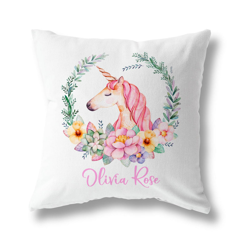FLOWER UNICORN CUSHION
