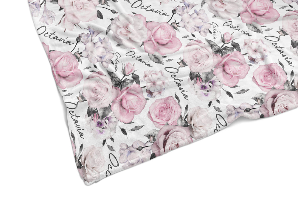 PINK ROSE REVERSIBLE BLANKET
