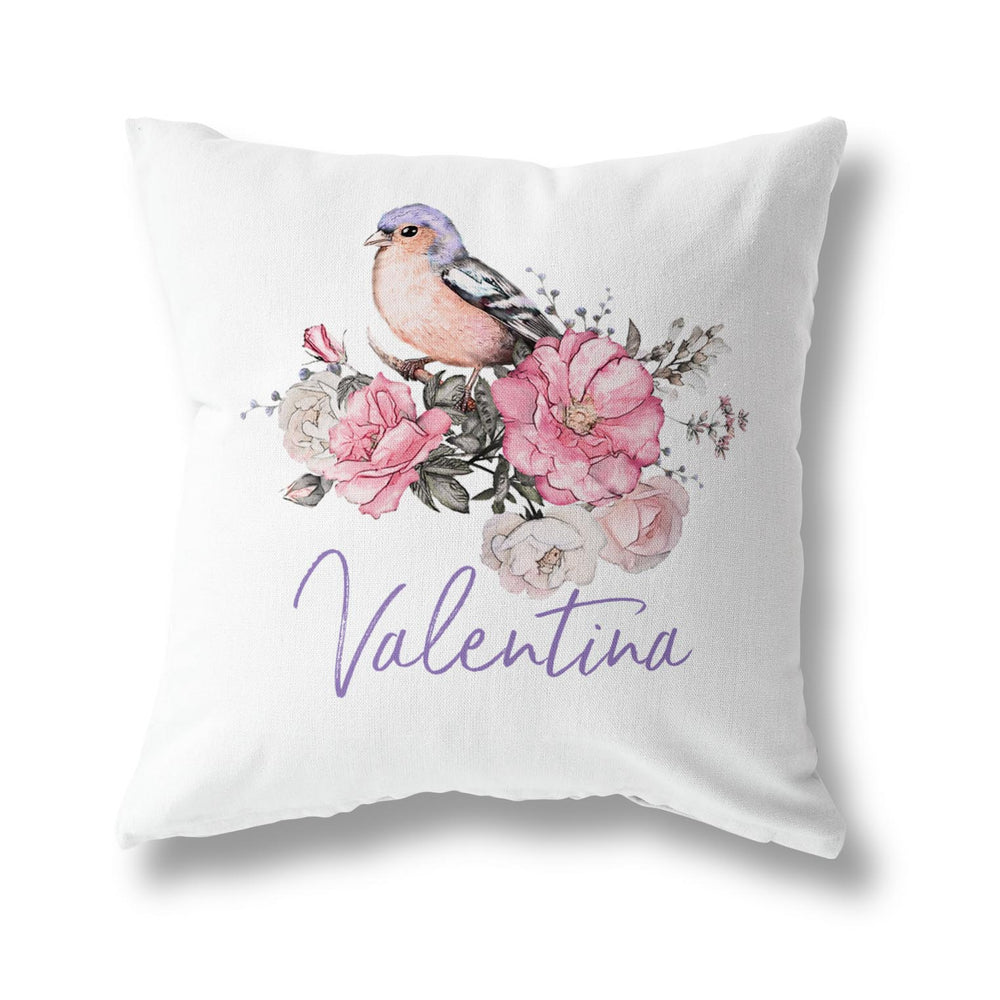 PURPLE FINCH CUSHION
