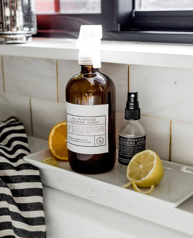 Essential oil all purpose cleaning spray