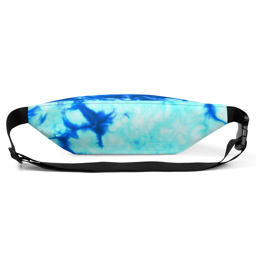 DRIP or DYE | Custom Crackle Ice Tye Dye Acid Wash Teal Water Custom Fanny Pack UNISEX Crossbody
