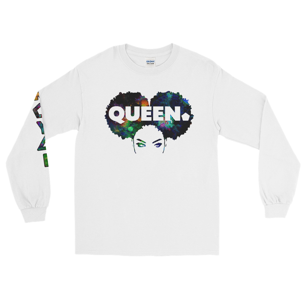 ROYAL. WEAR | 4 QUEENS Trippy Psychadelic GOD IS A BLACK WOMAN 2 unisex long tee 3 VARIETIES