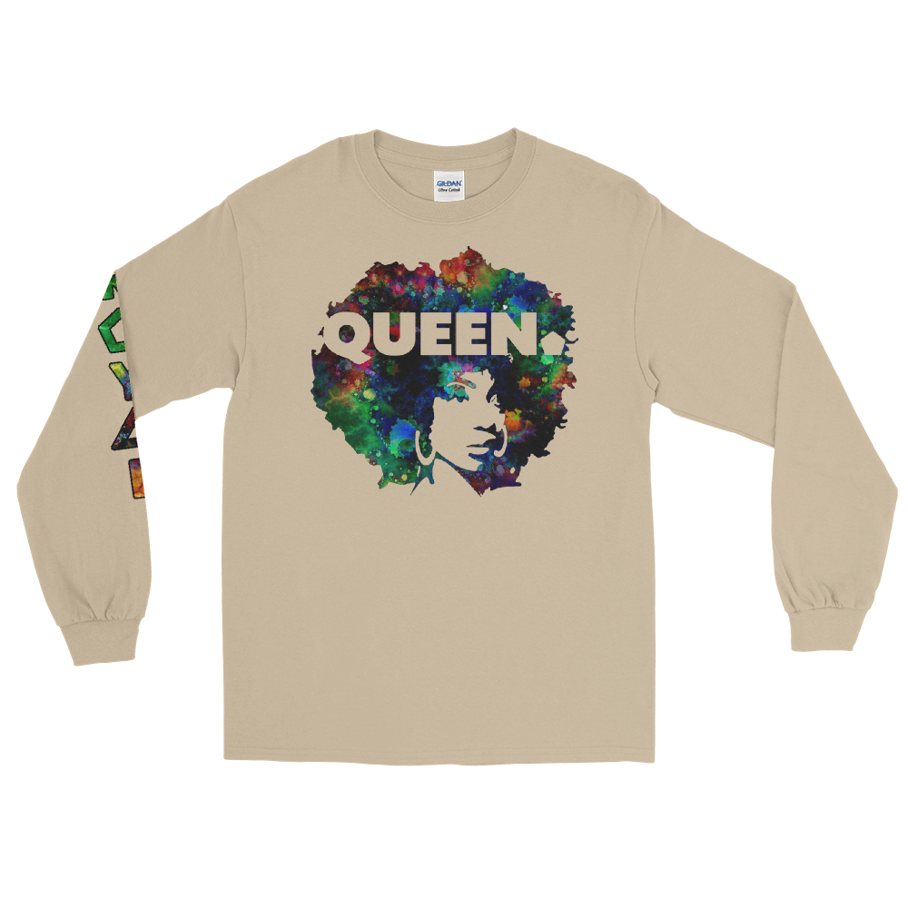 ROYAL. WEAR | 4 QUEENS Trippy Psychadelic GOD IS A BLACK WOMAN 1 unisex long tee 3 VARIETIES
