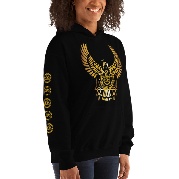 ROYAL. | Urban Resort | RA PARTY ROYAL GRAND RISE Unisex Heavy Blend Hoodie HONEYCOMB GOLD (3 VARIETIES)