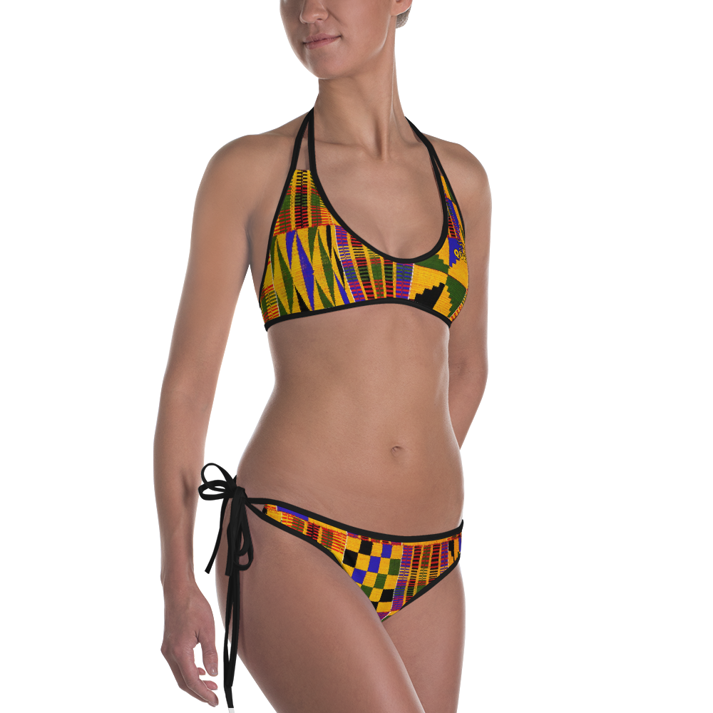 ROYAL. |  Urban Resort | NU AFRIQUE Eye of Ra Reversible Bikini Kente Dreams