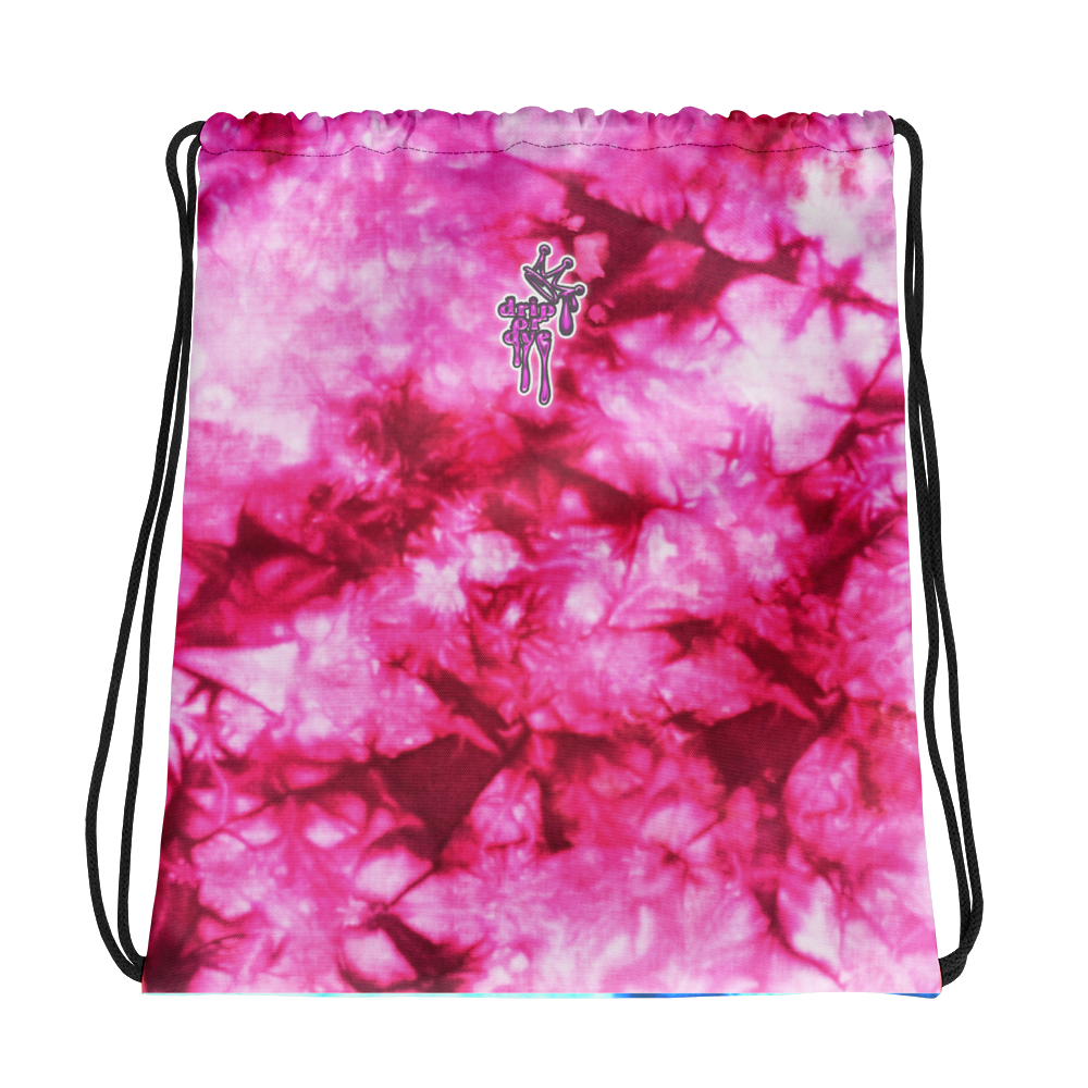DRIP or DYE | Drawstring Bag Crackle Ice Tye Dye Acid Wash Pink N Blue