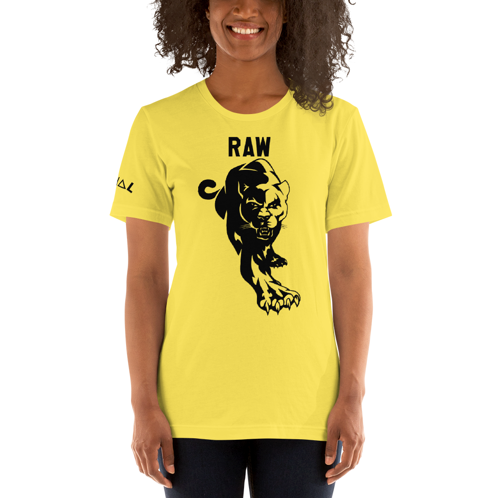ROYAL. | Graf It Tee | Guerilla Raw Panther Royal Tee UNISEX Yellow