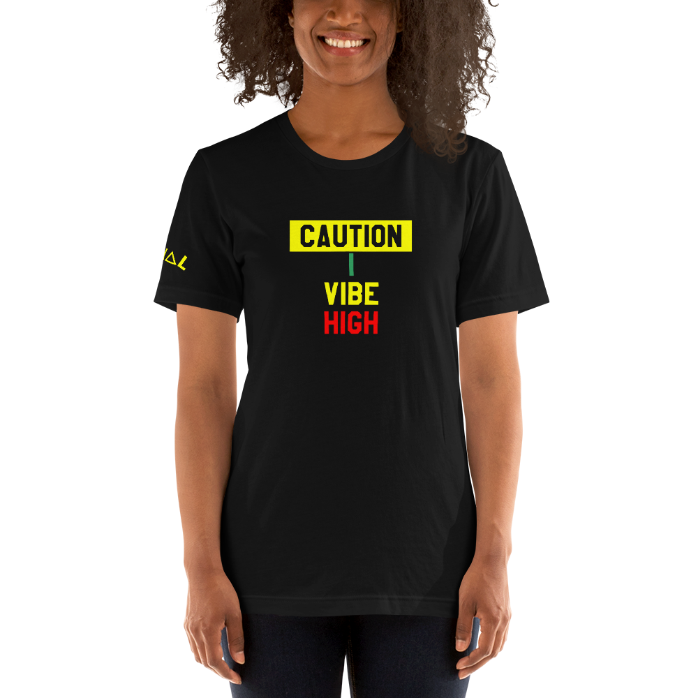 ROYAL. | GRAF IT TEE | CAUTION I Vibe High UNISEX ROYAL TEE (2 VARIETIES)