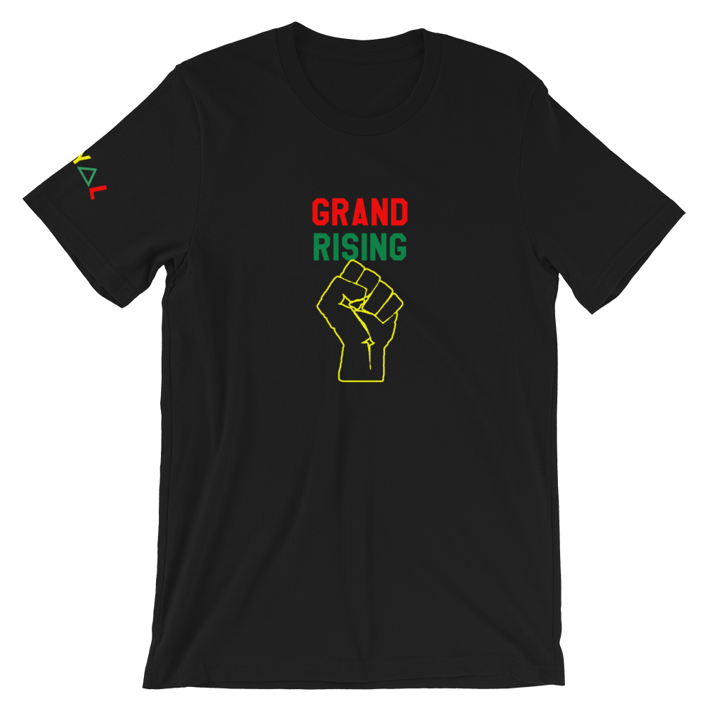 ROYAL. | STATEMENT unisex gRAf it tee Grand Rising Afro Fist (2 Colors)